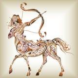 12 konstellationer royaltyfri illustrationer