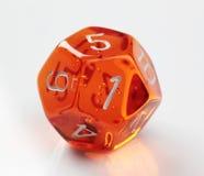 12 kostka do gry popierający kogoś Fotografia Stock
