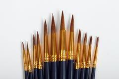 12 kunst/het schilderen borstels Stock Afbeeldingen