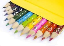 12 lápis para o ilustrador do dreamstime Fotografia de Stock