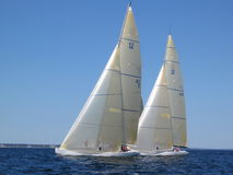 12 meters. Two 12 meter yachts racing in Newpot Rhode Island Stock Image