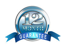 12 month guarantee icon Royalty Free Stock Photography