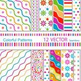 12  patterns Royalty Free Stock Image