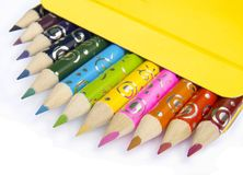 12 pencils for dreamstime illustrator. In box stock photography