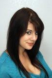 12 pięknych brunetki headshot potomstwa Zdjęcia Royalty Free