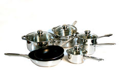 12 Piece Pans set Royalty Free Stock Photography