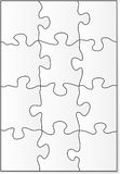 12 piece puzzle template Stock Photos