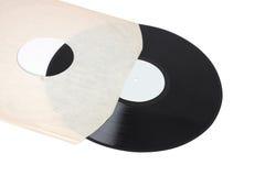 12 pollici o l'album hanno graduato il record secondo la misura in manicotto Fotografia Stock Libera da Diritti