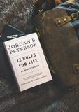 12 Rules for Life by Jordan B. Peterson Book Brown Textile Royalty Free Stock Photo