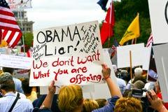 12 sept., 2009: Theekransje Maart op Washington D.C. Royalty-vrije Stock Afbeelding