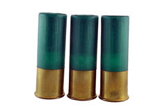12 shelles de escopeta del calibrador Fotografía de archivo libre de regalías