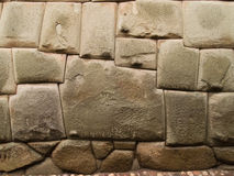 12 sided Inca stone. 12 sided Inca Hatunrumiyoc stone. Cuzco. Peru Stock Photo