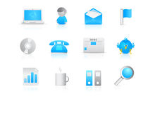 12 Stylish Modern Icons Stock Photography
