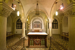 12 th. cen. crypt at St Servaas church, Maastricht Stock Images