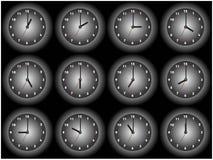 12 zegar Obrazy Stock