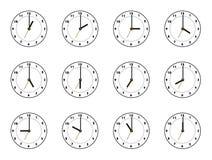12 zegar Obraz Royalty Free