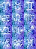 12 zodiaka serię znaków Obraz Stock