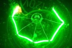 120个电灯泡绿色 库存照片