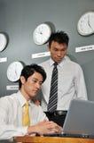 120企业时钟办公室 免版税库存照片