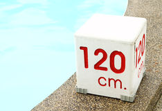 120 cm. water depth sign Stock Photography