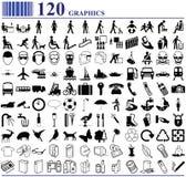120 grafici Fotografie Stock