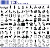 120 graphics. Various people transport animals and more Stock Photos