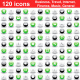 120 graphismes ont placé Photo stock