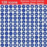 120 graphismes ont placé Images libres de droits