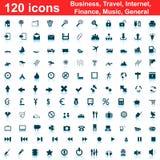 120 graphismes réglés Images stock