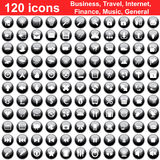 120 icons set. Biggest collection of 120 different icons for using in web design Royalty Free Illustration