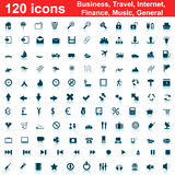 120 icons set Stock Images