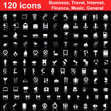 120 icons set Royalty Free Stock Photo