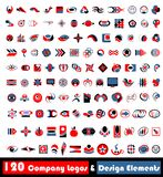 120 logos.cdr. 120 Company Logos & Design elements (vector stock illustration