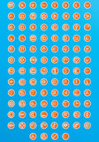 120 Web-Ikonen Lizenzfreie Stockbilder