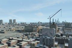 121虚构的城市 免版税库存图片