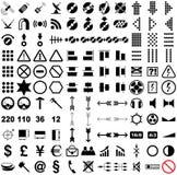 121 pictogrammes de vecteur. Photographie stock libre de droits