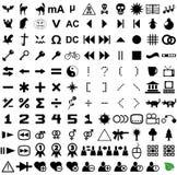 121 vectorpictogrammen. Stock Foto