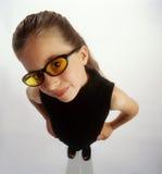 1212 dziewczyny s okularów przeciwsłoneczne target1502_0_ Zdjęcia Royalty Free