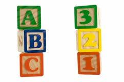 123个abc块 免版税库存照片