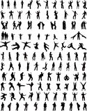 123 σκιαγραφίες ανθρώπων Στοκ εικόνες με δικαίωμα ελεύθερης χρήσης