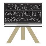 123 abc blackboard Zdjęcie Royalty Free