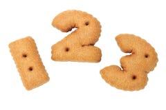 123 biscuits numériques de chocolat Photo libre de droits