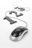123 and computer mouse stock images