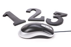 123 and computer mouse Stock Image