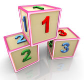 123 cubi variopinti 3d Immagini Stock Libere da Diritti