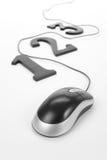 123 e mouse del calcolatore Immagini Stock