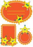123 etiketter för teckeneps-stjärna Royaltyfri Fotografi