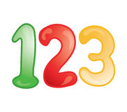 123 icon. Stylized icon of the numbers 1,2,3 (File 16 of 20 in this series Stock Photo