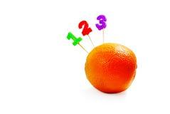 123 sinaasappel Stock Foto