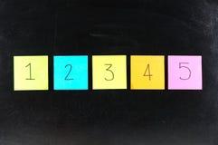 1234纸张 免版税库存图片